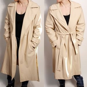 Vintage Tan Classic Trench Coat